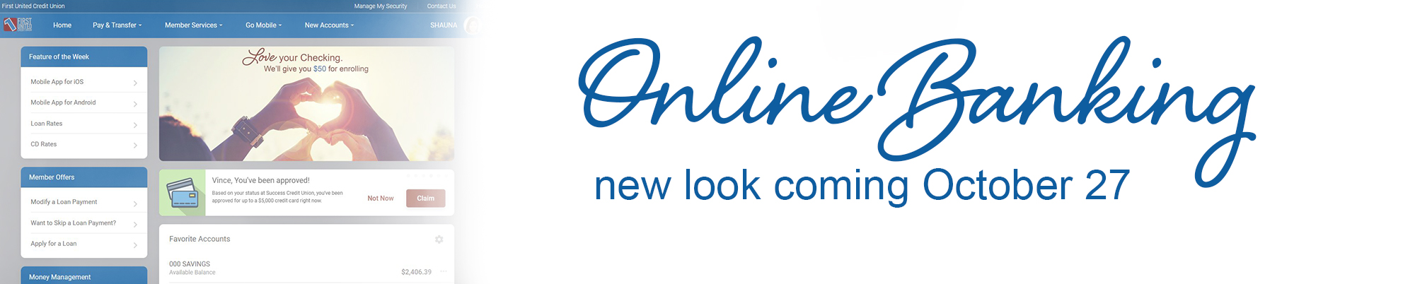 Online Banking New Look